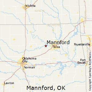 Mannford,Oklahoma Map