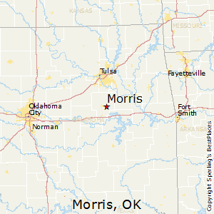 Morris,Oklahoma Map