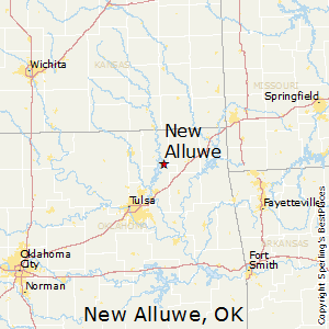 New_Alluwe,Oklahoma Map
