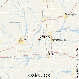 Oaks,Oklahoma Map
