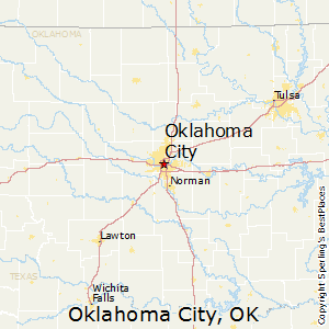 Map Of Texas And Oklahoma With Cities.Oklahoma City Oklahoma Cost Of Living