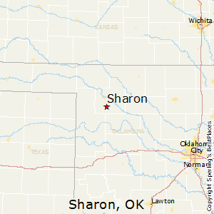 Sharon,Oklahoma Map