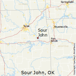 Sour_John,Oklahoma Map