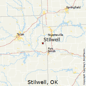 Stilwell,Oklahoma Map