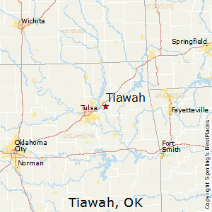 Tiawah,Oklahoma Map