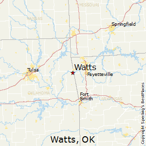 Watts,Oklahoma Map