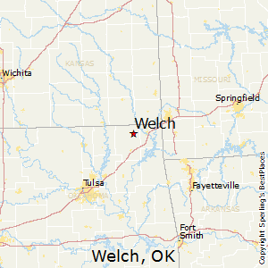 Welch,Oklahoma Map