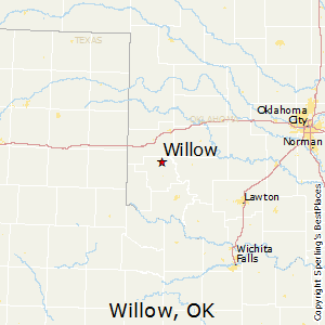 Willow,Oklahoma Map