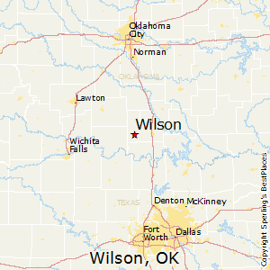 Wilson,Oklahoma Map