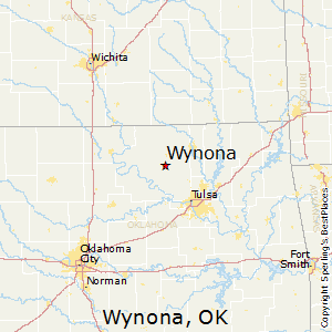 Wynona,Oklahoma Map