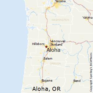 Comparison Beaverton Oregon Aloha Oregon