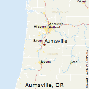 Aumsville,Oregon Map