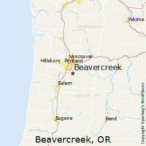 Beavercreek,Oregon Map