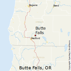 Butte_Falls,Oregon Map