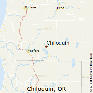Chiloquin,Oregon Map