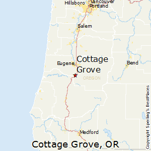 Cottage Grove Oregon Map Best Places to Live in Cottage Grove, Oregon