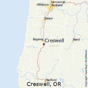 Creswell,Oregon Map