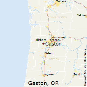 Gaston,Oregon Map