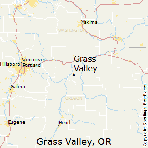 Grass_Valley,Oregon Map