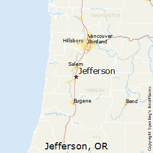 Jefferson,Oregon Map