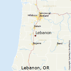 Lebanon,Oregon Map