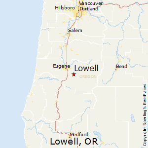 Lowell Oregon Map.Best Places To Live In Lowell Oregon