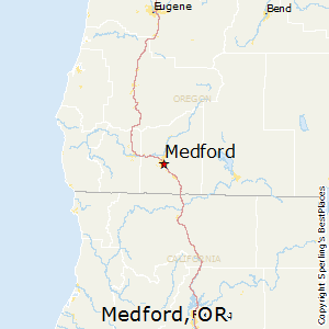 Medford,Oregon Map