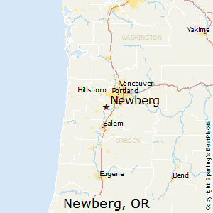 Newberg,Oregon Map