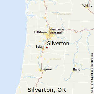 Silverton,Oregon Map