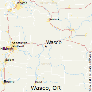 Wasco,Oregon Map