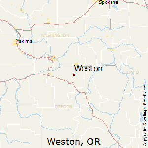 Weston,Oregon Map