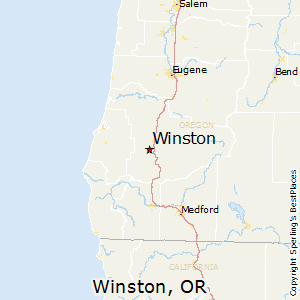 Winston,Oregon Map