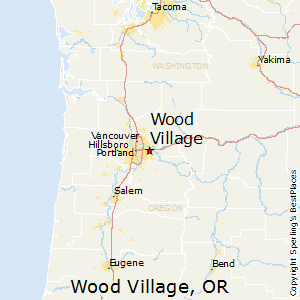 Wood_Village,Oregon Map