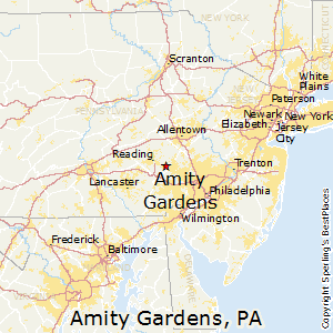 Amity_Gardens,Pennsylvania Map