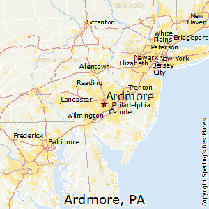 Ardmore,Pennsylvania Map