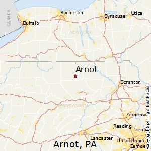 Arnot,Pennsylvania Map