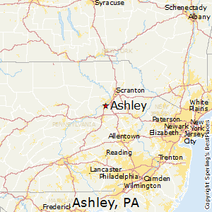 Ashley,Pennsylvania Map