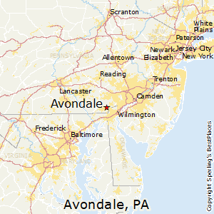 Avondale,Pennsylvania Map