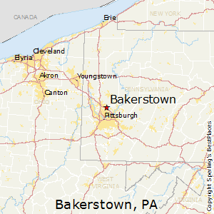 Bakerstown,Pennsylvania Map