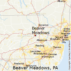 Beaver_Meadows,Pennsylvania Map