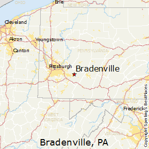 Bradenville,Pennsylvania Map