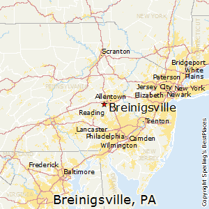 Breinigsville,Pennsylvania Map