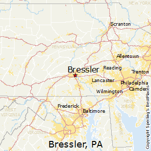 Bressler,Pennsylvania Map