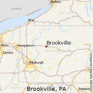 Brookville,Pennsylvania Map
