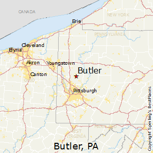 Butler,Pennsylvania Map
