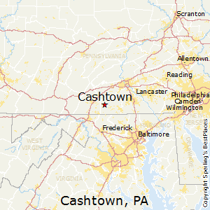 Cashtown,Pennsylvania Map