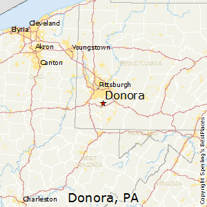 Donora,Pennsylvania Map