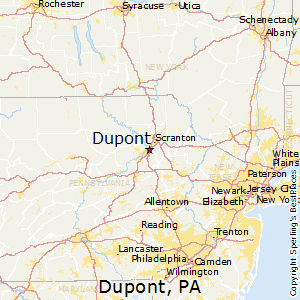 Dupont,Pennsylvania Map