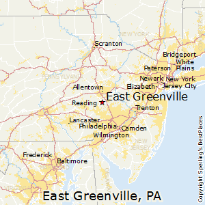 East_Greenville,Pennsylvania Map