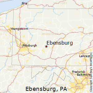 Ebensburg,Pennsylvania Map